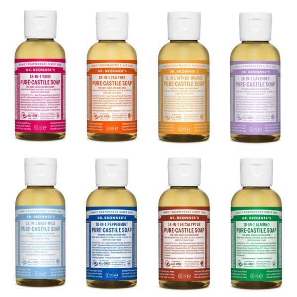 Dr broners savon naturel au chanvre 60ml format voyage