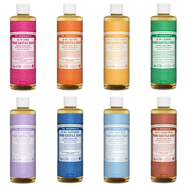 Dr Bronners jabón de cañamo orgánico líquido 475ml