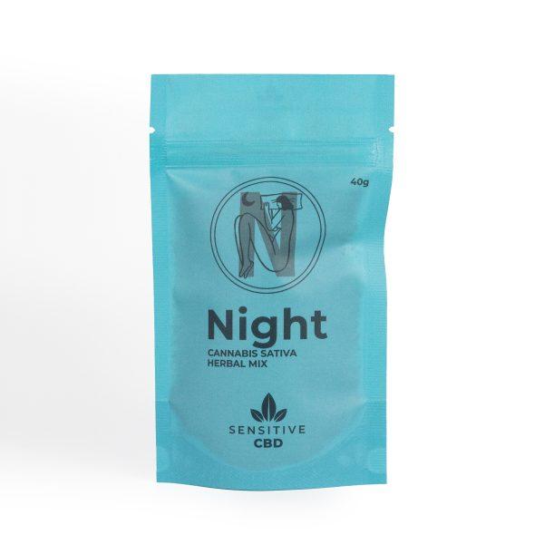 Infusión de cáñamo con CBD relajante para la noche