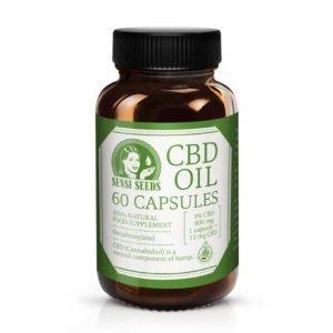Cápsulas CBD Sensi Seeds 10 15 20 mg