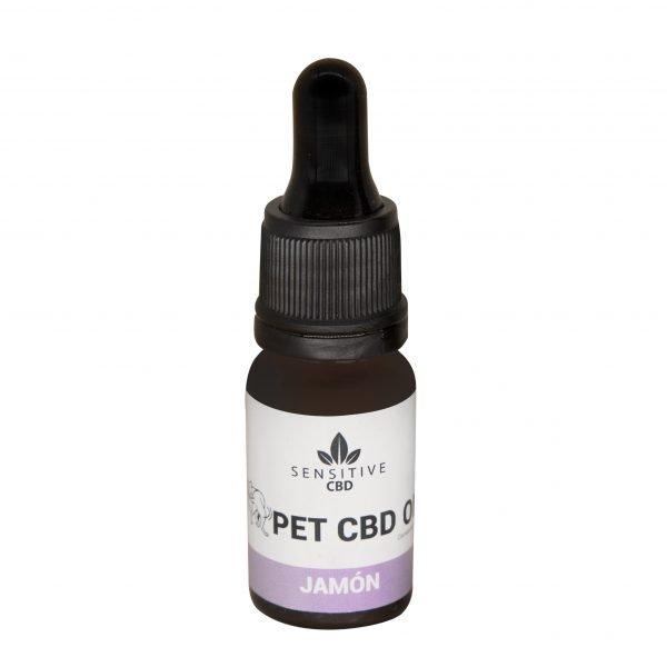 Aceite para perros jamón